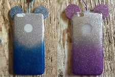 2 Of iPhone 6S Plus Sparkle Glitter Disney Mickey Mouse Ears Soft TPU Case Skin