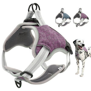 Reflective Adjustable No Pull Dog Harnesses Front Clip Vest Small Medium Large