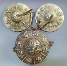 "4.3"" Old Tibetan Buddhist Bronze Tingsha Cymbals With 8 Auspicious Symbols Box"