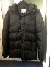 SIKSILK Black Hooded Puffer Jacket Winter Coat Size XS