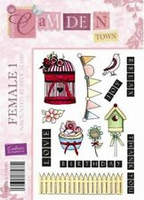 Birdcage bunting cupcake fence female unmounted rubber stamps for card making