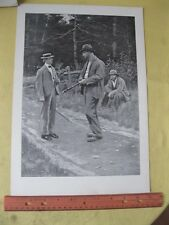 Vintage Print,MEN OF THE ROAD,AB.Frost,PF.Collier,Book of Drawings,1904