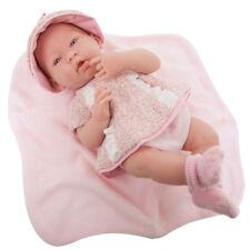 "Berenguer La Newborn 15 "" Real Girl Doll in PInk Knit Set ~ Blanket  Spain 18058"