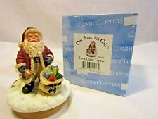 Our America Gift Santa Claus Candle Topper w/original box