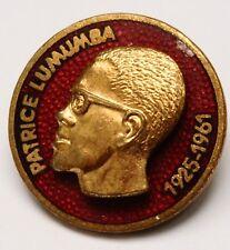 Badge nr1 Lumumba Russia Cold War Propaganda USSR Katanga Congo anti colonialism