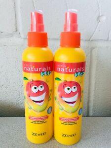 2 x Avon Naturals Kids Magnificent Mango Detangling Spray 200ml NEW