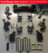 "Ford PK/ Ranger/2002 couriers 4x4 7"" inch  Heavy Duty suspension lift kit."