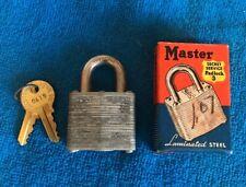 GREAT Original MASTER Padlack Secret Service 3 w/ Keys and Original Box