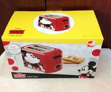 New disney mickey mouse 2 slice red toaster makes mickey mouse designed toast