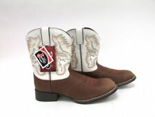 NEW Justin Distressed Brown Leather Men's Cowboy Western Boots Size 5.5 D