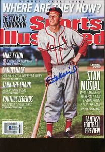 Stan Musial No Label Signed Autographed Sports Illustrated Magazine BAS COA