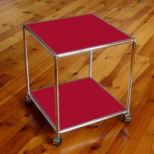 1 Original USM Haller Beistelltisch Tisch Rubinrot  37x37x39cm NEU