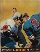 1949-50 New York Rangers-Red Wings Program Rangers Clip Wings Playoff Preview!!