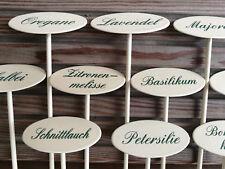 Kräuterschilder Kräuterstecker für innen, für Balkon, Terasse INDOOR