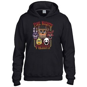 Five Nights At Freddy's Adult Black Hoodie Gaming Gamer Youtuber Fan Size XL