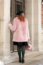 Pink Soft Fur Marshmallow Coat Size S