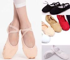 AU SELLER Ballet JAZZ Dance Canvas Shoes Split sole For Child to Adult da027