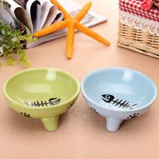 Pet Dog Cat Ceramic Bowl Non-slip Dish Anti-skid Cute Fashion Design Food Feeder