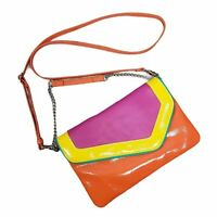 Nine West Telly-O 80's Inspired Crossbody Purse Yellow, pink, blue, orange