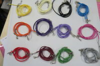 2 x 17 inches Waxed Suede Leather String Necklace Cords With Clasp - UK SUPPLIER