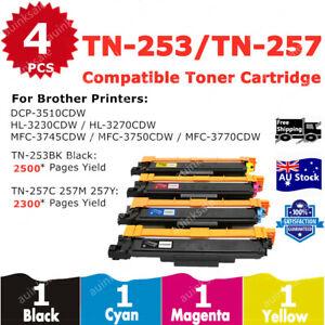 4x Compatible Toner TN253 TN257 TN-253BK TN-257 For Brother HL-3230CDW HL3270W