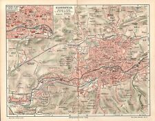 ELBERFELD  historischer Stadtplan 1910 mit Namensregister Wuppertal
