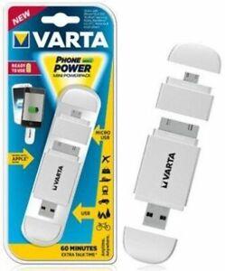 VARTA PHONE POWER MINI POWERPACK POWERBANK CARICA BATTERIA MICRO USB SMARTPHONE