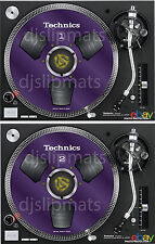 PAIR (2) Ltd.Ed Technics Japan Reel to Reel RS-1700 DJ Slipmats slipmat PURPLE