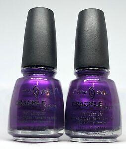 China Glaze Crackle Nail Polish Fault Line 983 Plum Grape Purple Shatter Lacquer
