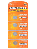 4 x CR1225 3V Lithium Knopfzelle 50 mAh ( 1 Blistercard a 4 Batterien ) EASTCELL