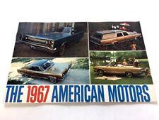 1967 American Motors Rambler 32-page Sales Brochure Catalog AMC Rebel Ambassador