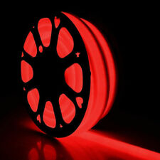 100ft SMD2835 Red LED Neon Rope Light Strip Flexible Waterproof In/Outdoor Decor