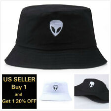 Alien Bucket Hat Cap Cotton Fishing Boonie Brim visor Sun Safari Summer Camping