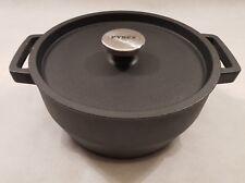 Pyrex Black Cast Iron Casserole Dish 24cm 3.6L Litres RRP £59.99
