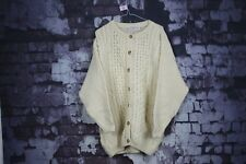 Highland Home Industries Pure New Wool Cream Jumper Size Large No.U72 10/1
