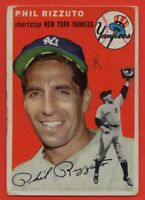 1954 Topps #17 Phil Rizzuto VG/VG+ MARKED HOF New York Yankees FREE SHIPPING