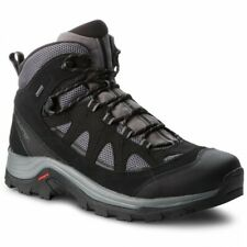 Salomon Authentic Leather GTX Mens Black Waterproof Trail Hiking Boots 404643