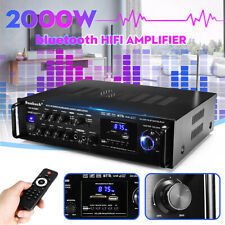 2000W 110V 2CH bluetooth Stereo Amplifier Karaoke FM USB Dual Microphone 2   t
