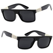 Locs Uomo da Soloe Biker Cima Piatta Occhiali Sole Protezione Dai Raggi UV Shiny
