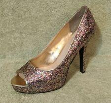Candies Platform Stiletto Womens 8.5 Rainbow Glitter Peep Toe LEFT SHOE ONLY