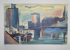 Jean Marzelle - Lithographie - Port de la Rochelle