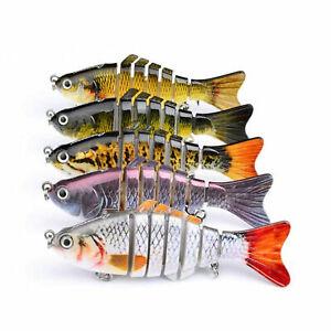 5pcs Fishing Lure Swimbait Fish Bait Set Lot 10CM Caja de aparejos articulados