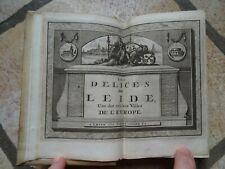Les délices de Leide 1712 32 planches Hollande Leiden Leyde netherlands Rare ...