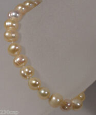 """Freshwater White Luster Pearl Bracelet  7"""" long 24 pearls + clasp  FREE SHIP"""