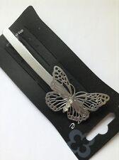 A Metal Mate Plata Simple Mariposa pasador PASADOR