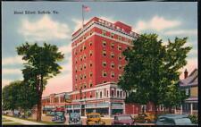 SUFFOLK VA Elliott Hotel Vintage Virginia Linen Postcard Old PC