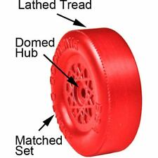 Pinewood Derby Car Lathed and Matched Wheels RED