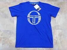 Sergio Tacchini Mens S Royal Blue Mondo T-Shirt BNWT SS Small Sports Top New