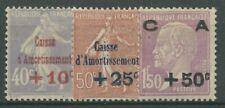 FRANCE 1928 ETAT remboursement de la dette caisse marques avec inscriptions 232/34 avec pliage