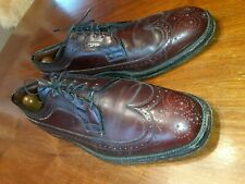 Johnston And Murphy Mens Shoes Size 10.5D Oxblood Wingtip Brogue Made In USA